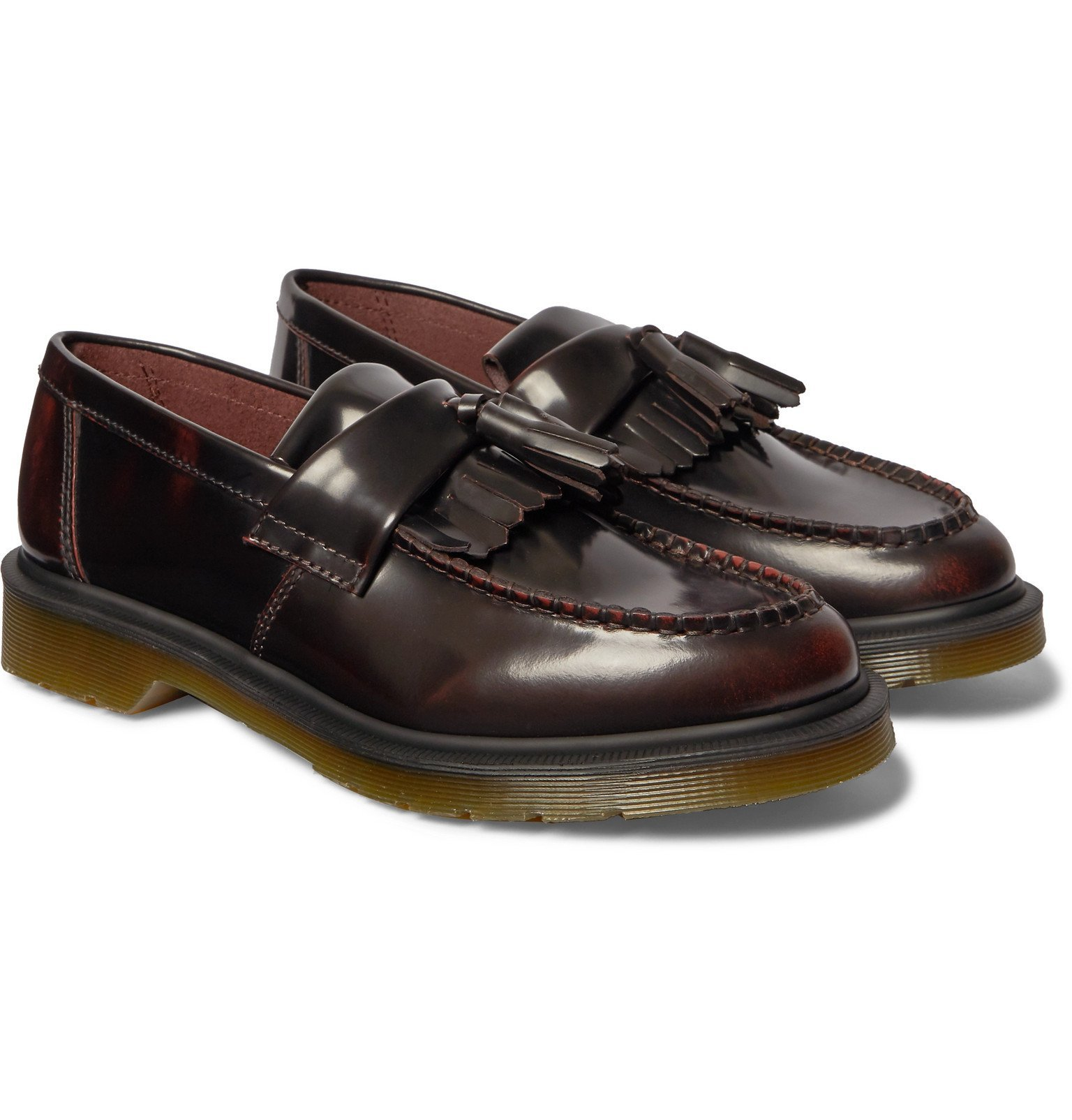 Photo: Dr. Martens - Adrian Polished-Leather Tasselled Loafers - Burgundy