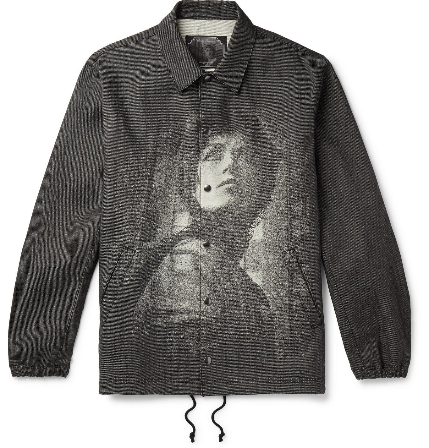 Photo: Undercover - Cindy Sherman Printed Embroidered Denim Coach Jacket - Black