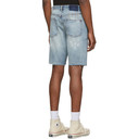 Ksubi Blue Denim Wolf Shorts