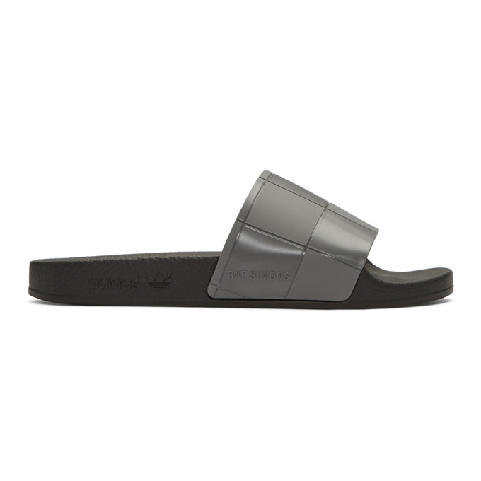 Photo: Raf Simons Grey adidas Originals Edition Checkerboard Adilette Slides