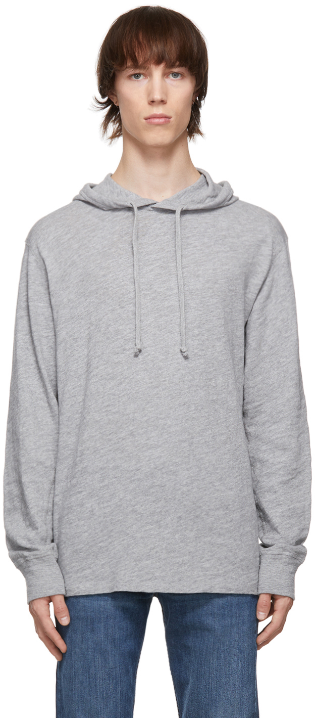 Photo: rag & bone Grey Cotton Carded Flame Hoodie