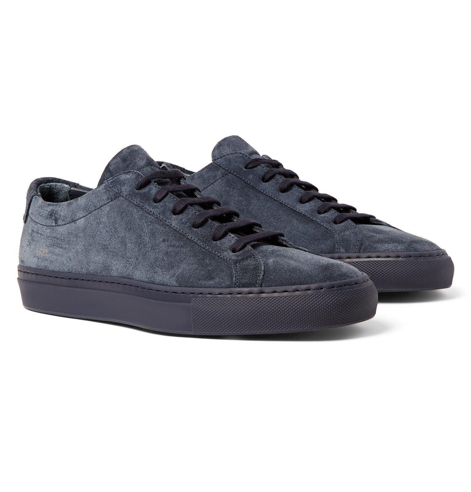 Common Projects - Original Achilles Suede Sneakers - Blue