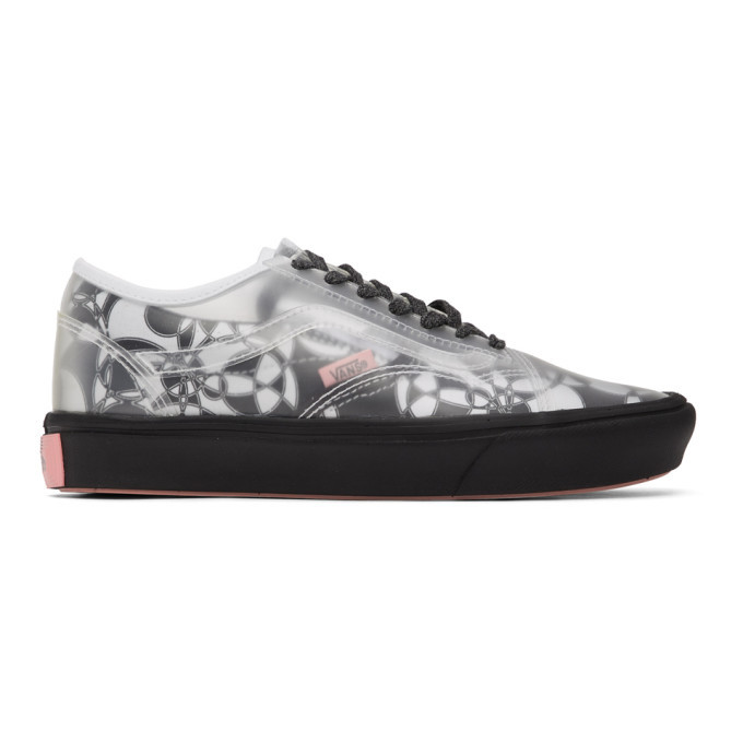 Photo: Vans Black and White PVC Zhou Zhou Edition Comfycush Slip-Skool Sneakers