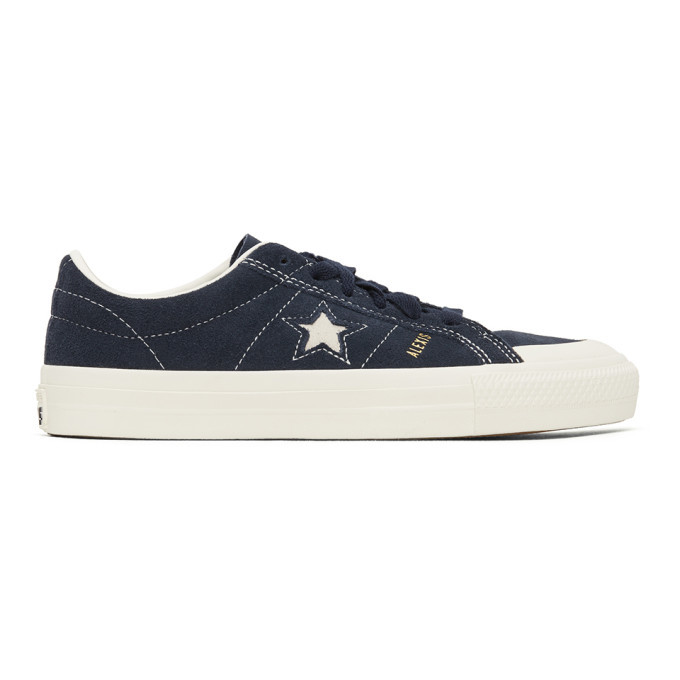 Photo: Converse Navy Suede One Star Pro Sneakers