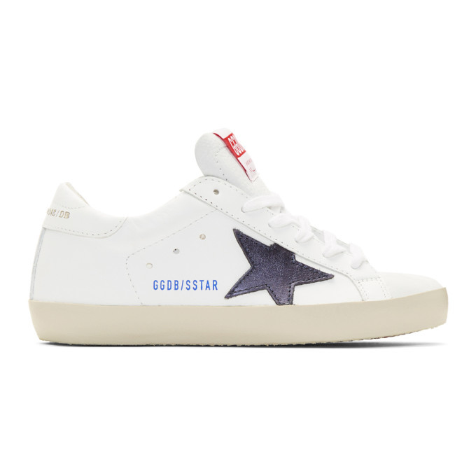 Golden Goose White and Navy Clean