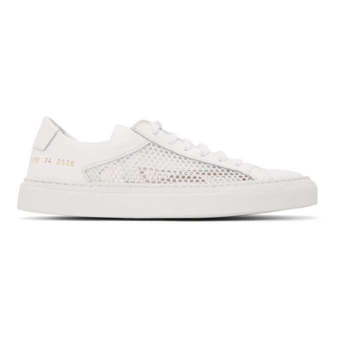 Common Projects White Summer Achilles Low Sneakers
