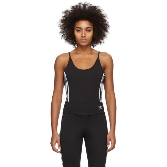 adidas Originals Black Cotton Bodysuit