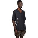Ksubi Black Serpent Short Sleeve Shirt