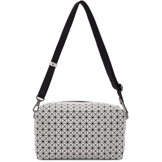 Photo: Bao Bao Issey Miyake White and Black Saddle Bag