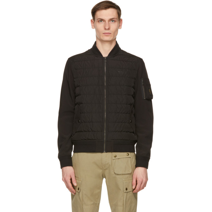 Photo: Belstaff Black Down Mantle Jacket