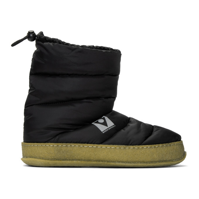 Photo: Maison Margiela Black Puffer Boots