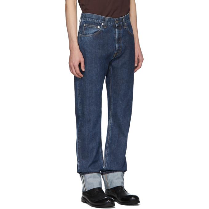 Photo: Helmut Lang Blue Cuffed Masc Hi Straight Jeans