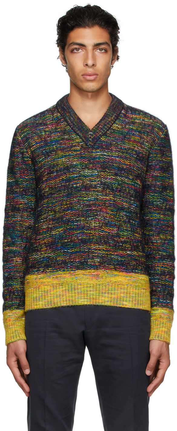 Photo: Dunhill Multicolor Mohair Sweater