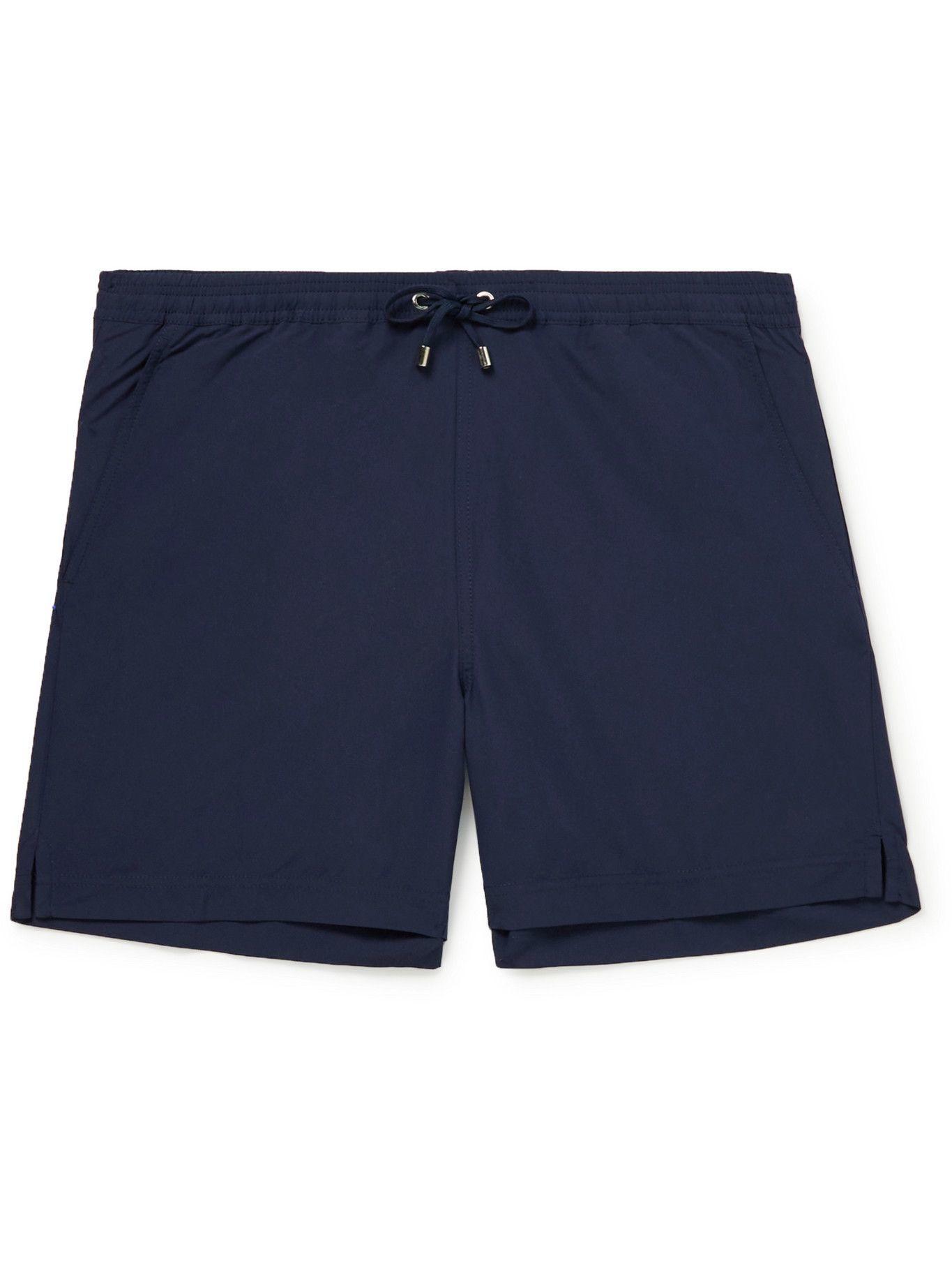 SUNSPEL - Mid-Length Recycled SEAQUAL Swim Shorts - Blue