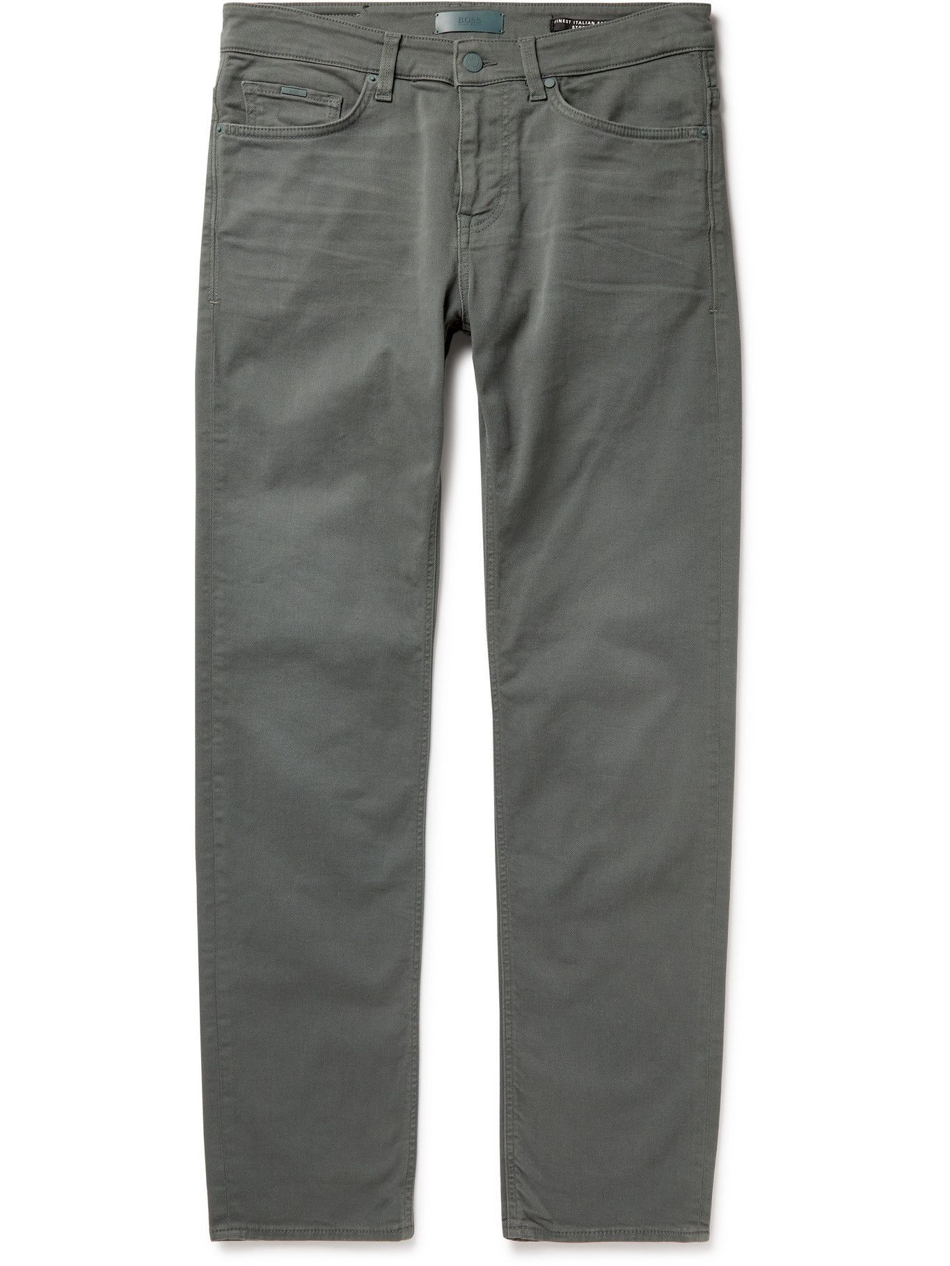 Photo: HUGO BOSS - Slim-Fit Stretch-Denim Jeans - Green