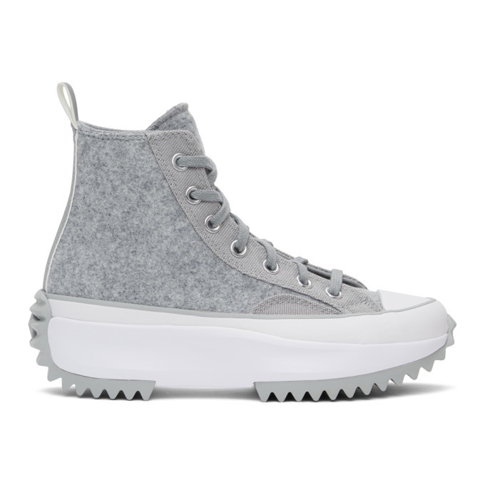 Photo: Converse Grey Run Star Hike High-Top Sneakers