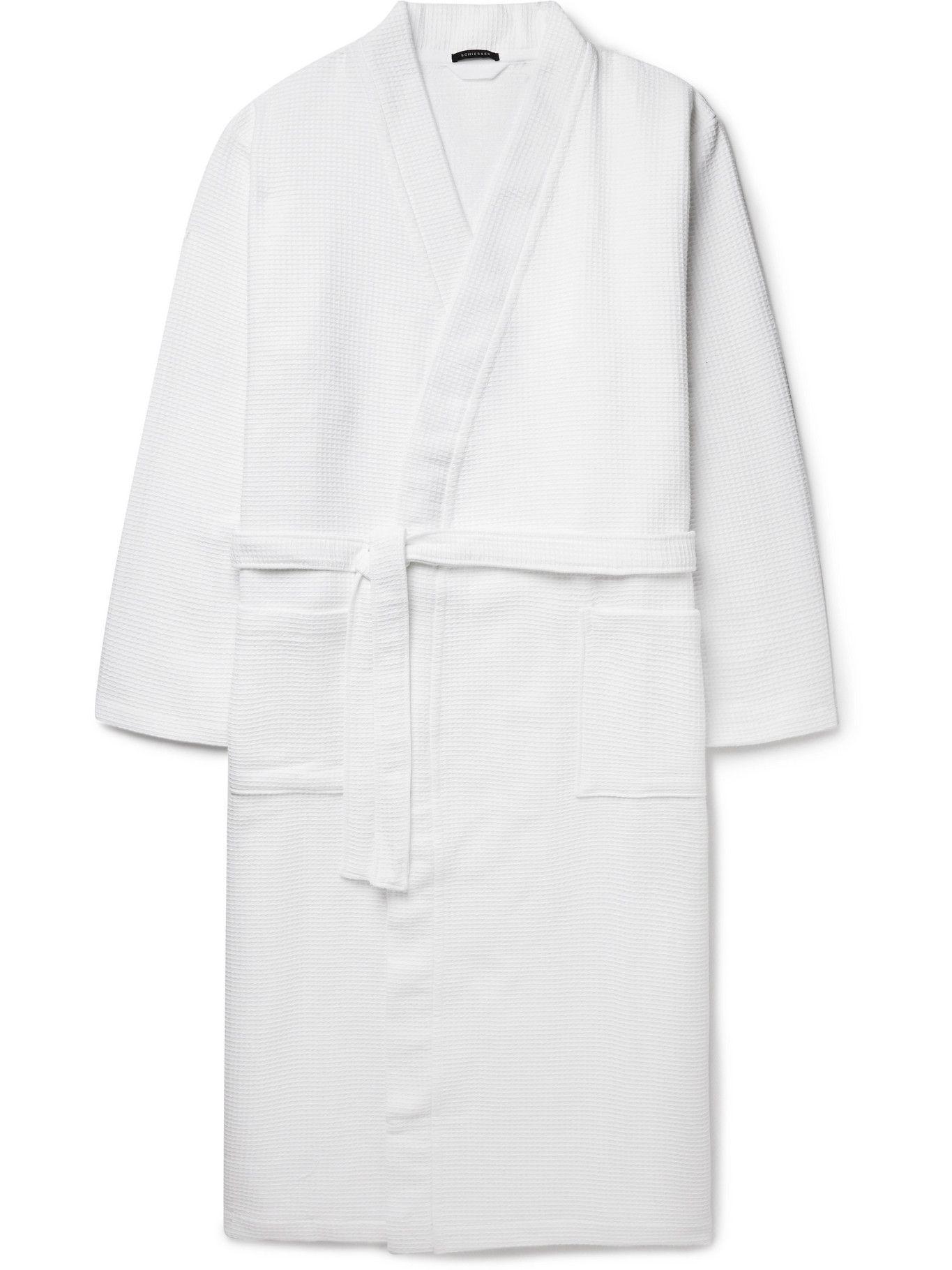 Photo: SCHIESSER - Waffle-Knit Cotton Robe - White