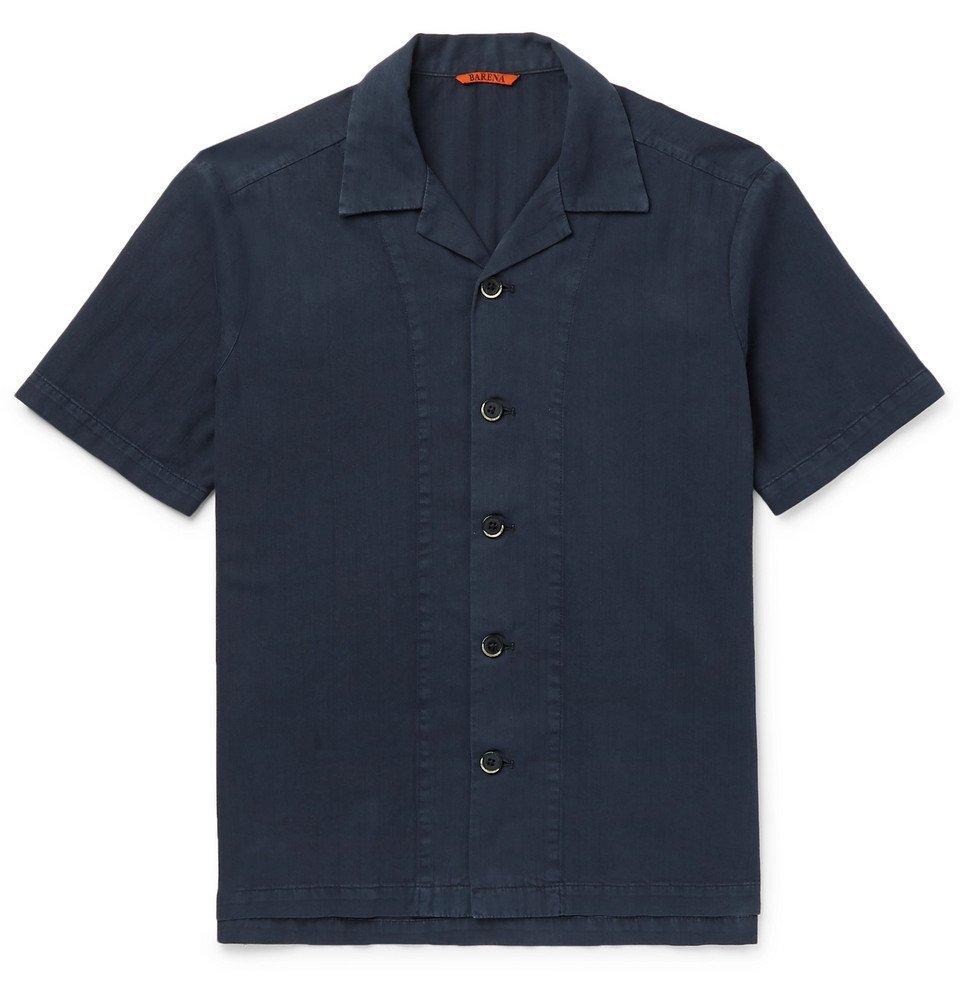 Photo: Barena - Camp-Collar Cotton Shirt - Navy