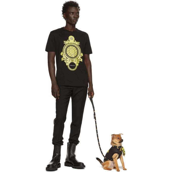 Versace Black and Yellow Medusa T-Shirt