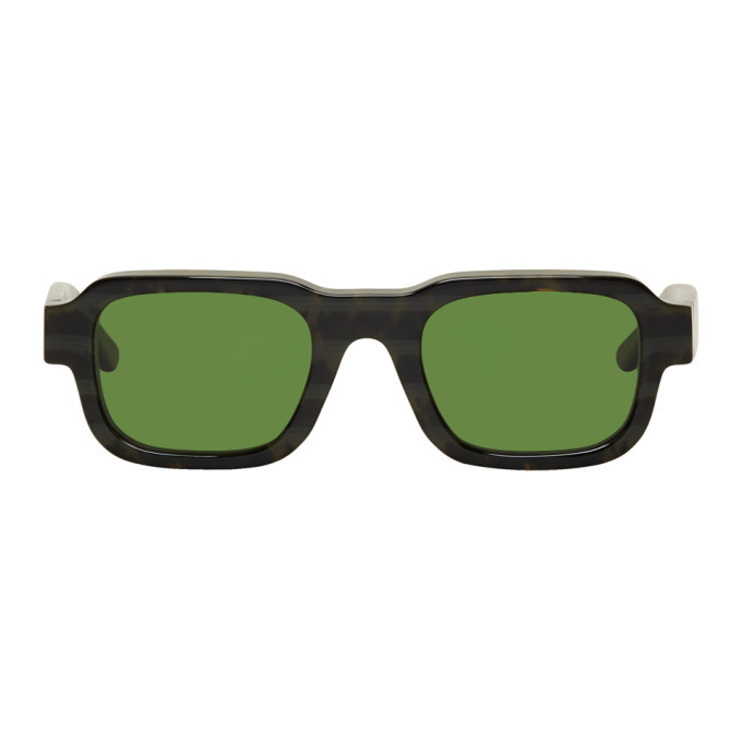 Photo: Enfants Riches Deprimes Tortoiseshell and Green Thierry Lasry Edition The Isolar 2 Sunglasses