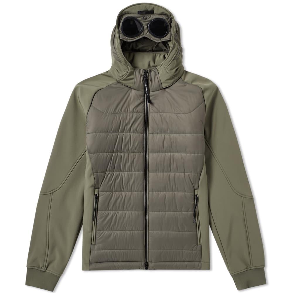 C.P. Company Hooded Soft Shell Padded Jacket Military Olive
