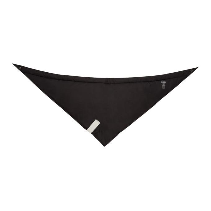 032c Black Cosmic Workshop Triangle Scarf