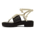 3.1 Phillip Lim Black and Ivory Strappy Lug Sole Sandals