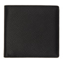 Smythson Black Panama 8 Card Wallet