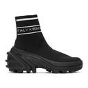 1017 ALYX 9SM Black Knit Logo High-Top Sneakers