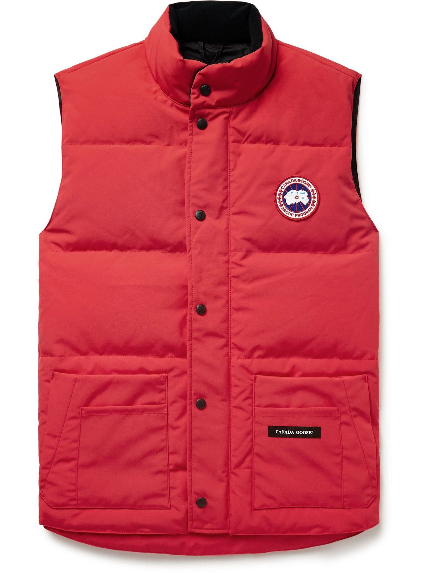 Photo: Canada Goose - Slim-Fit Freestyle Crew Quilted Arctic Tech Down Gilet - Red