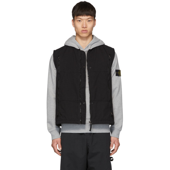 Photo: Stone Island Shadow Project Black Padded Vest