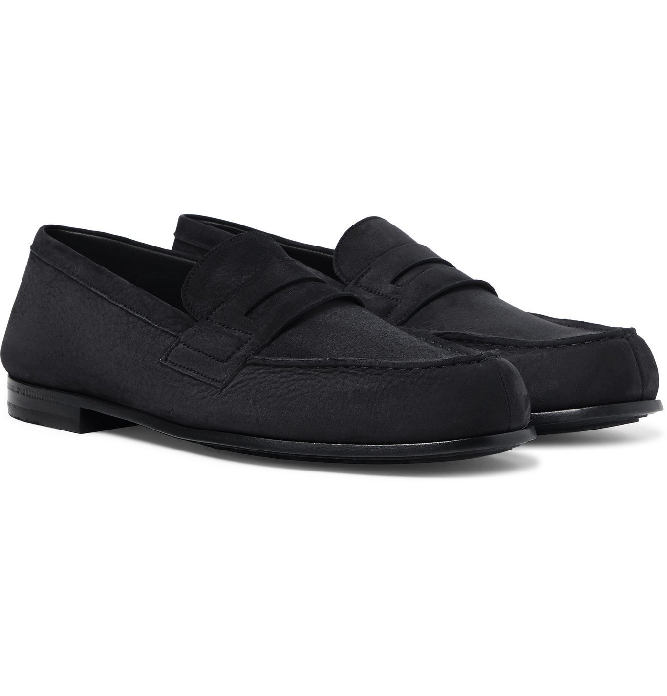 Photo: J.M. Weston - Nubuck Penny Loafers - Black