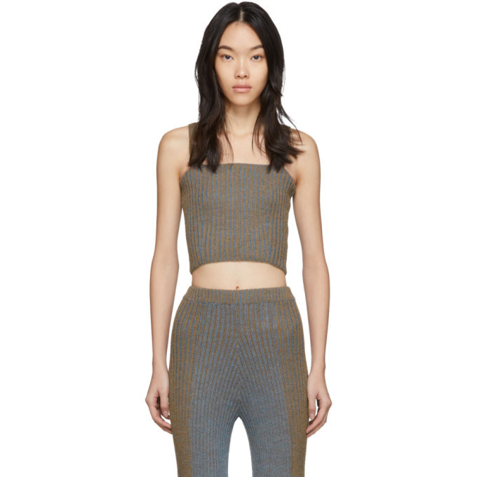Photo: Eckhaus Latta Brown and Blue Plated Tank Top