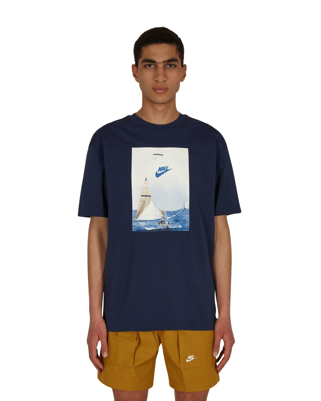 Photo: Nike Reissue Tall Boating T Shirt Midnight Navy