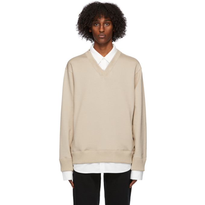 Photo: mastermind WORLD Beige Collared Sweatshirt