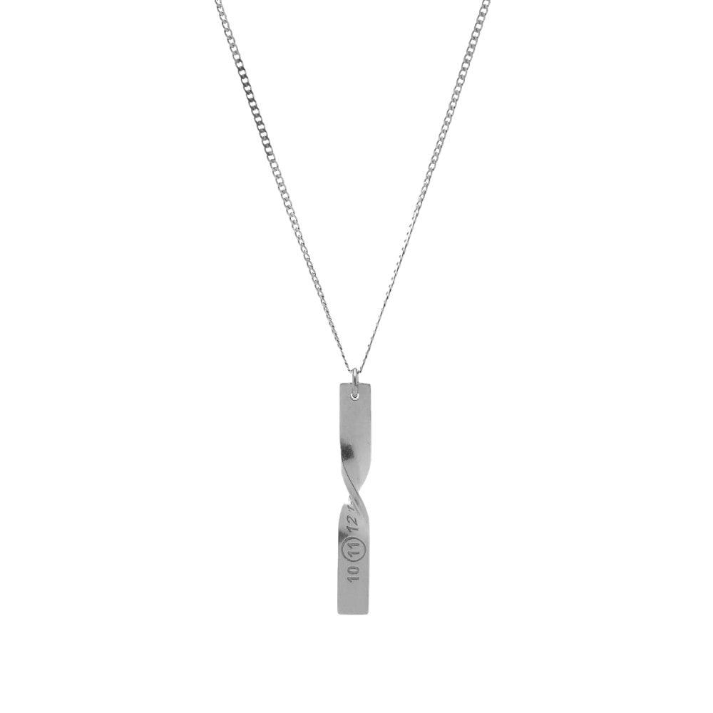 Photo: Maison Margiela Twisted Number Logo Bar Necklace