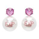 Jiwinaia SSENSE Exclusive Pink Urlo Spiky Expired Earrings