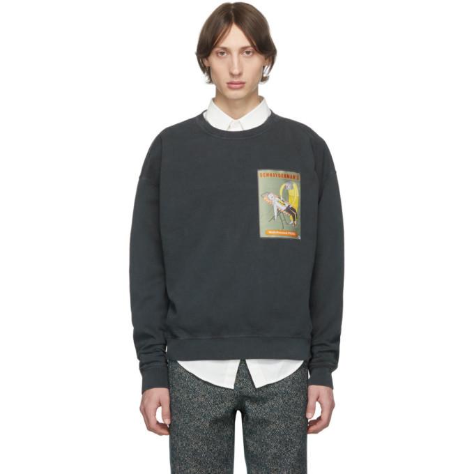 Photo: Schnaydermans Black Oversized Well-Pressed Pete Sweatshirt