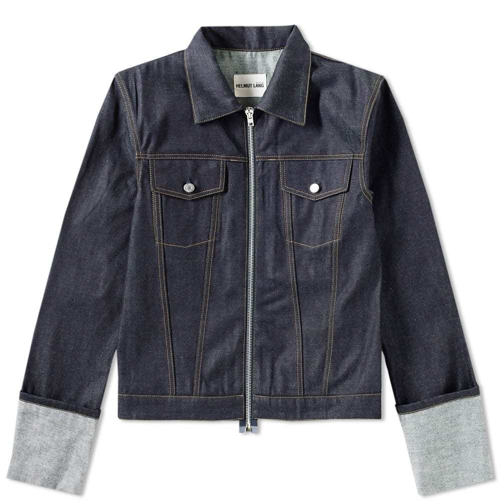 Photo: Helmut Lang 2004 Re-Edition Zip Denim Jacket Blue