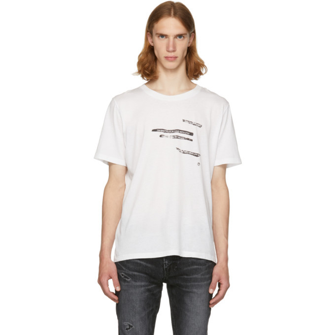 Really Sale Online White Sorry For What I Said T-Shirt Saint Laurent Amazing Price Free Shipping Fashion Style Outlet Get Authentic Sale Visa Payment 3jdRGELMb