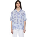 Aries Blue and Purple Rose Hawaiian Shirt