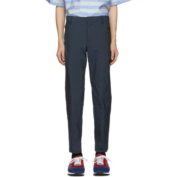 Photo: Prada Navy Fil-a-Fil Tech Trousers