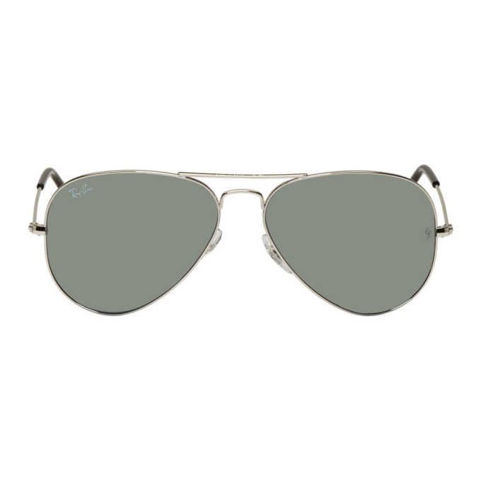 Photo: Ray-Ban Silver Mirrored Pilot Aviator Sunglasses
