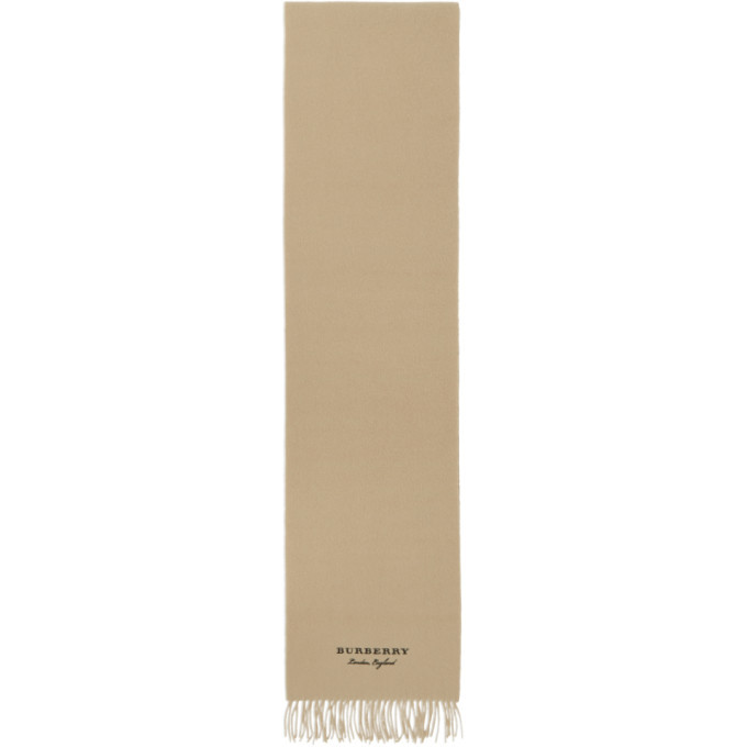 Photo: Burberry Beige Cashmere Fleece Scarf