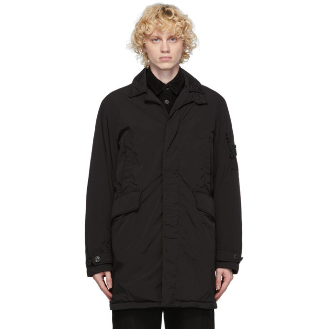 C.P. Company Black Down Collared Lens Jacket