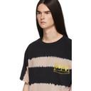 Aries Pink and Black Tie-Dye Stripe T-Shirt