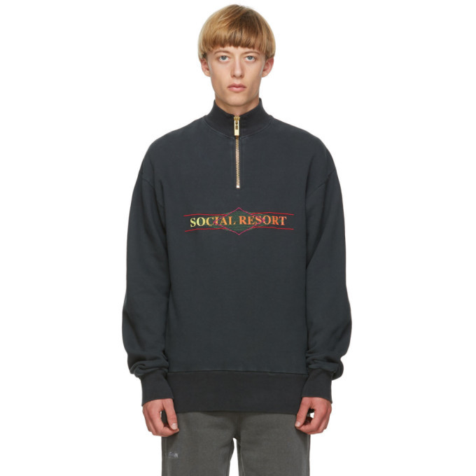 Photo: Han Kjobenhavn Black Half-Zip Sweatshirt