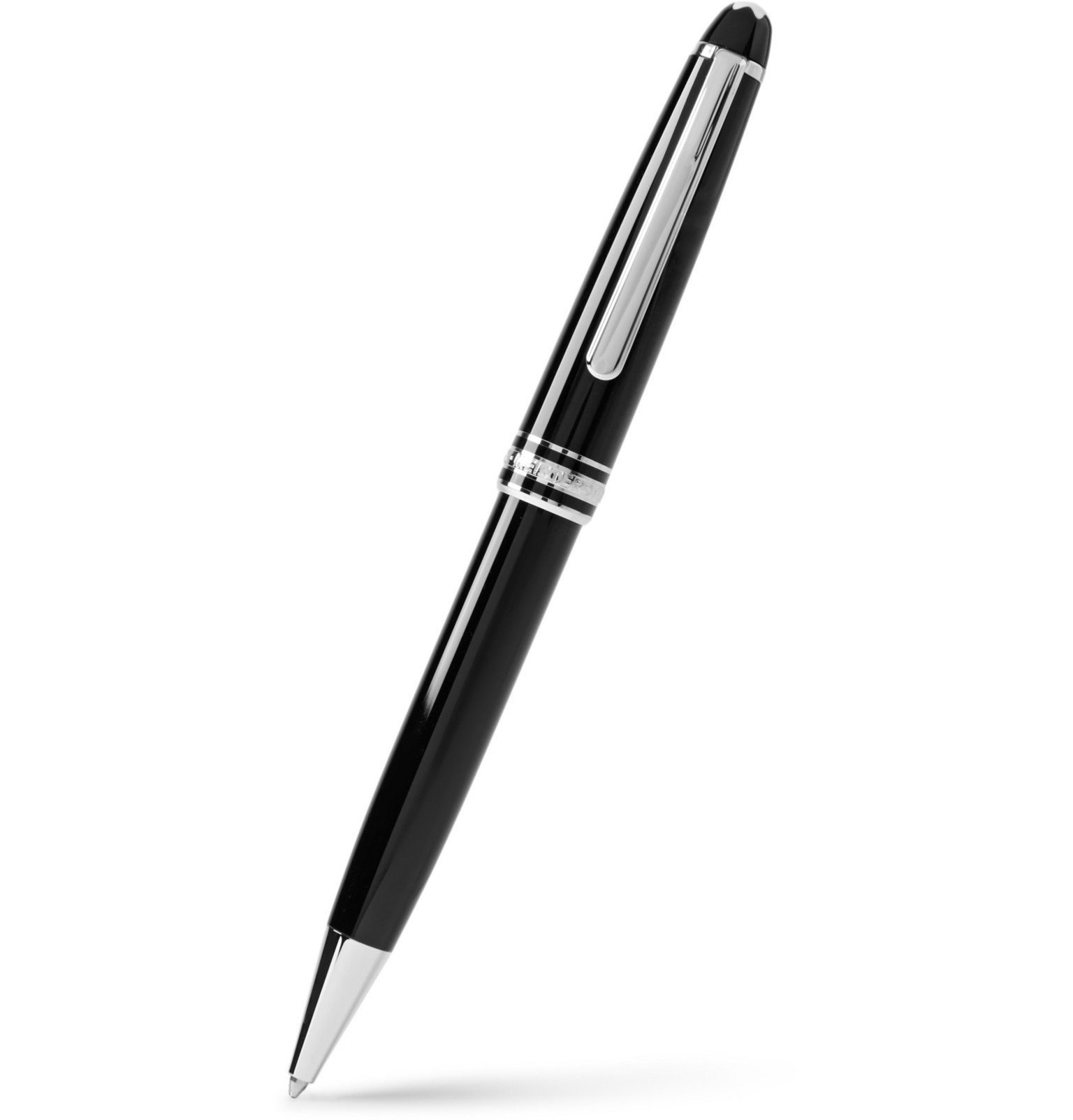 Photo: Montblanc - Meisterstück Classique Resin and Platinum-Plated Ballpoint Pen - Black