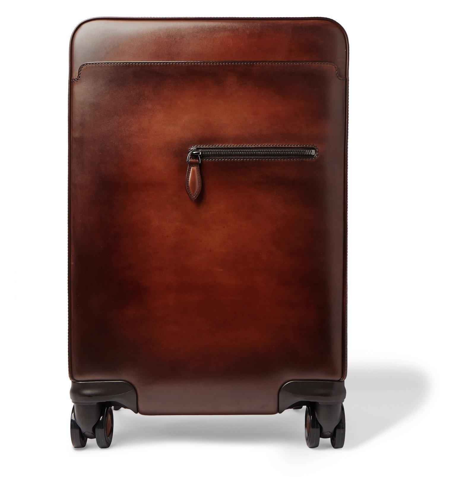 Photo: Berluti - Formula 1004 Venezia Leather Carry-On Suitcase - Brown
