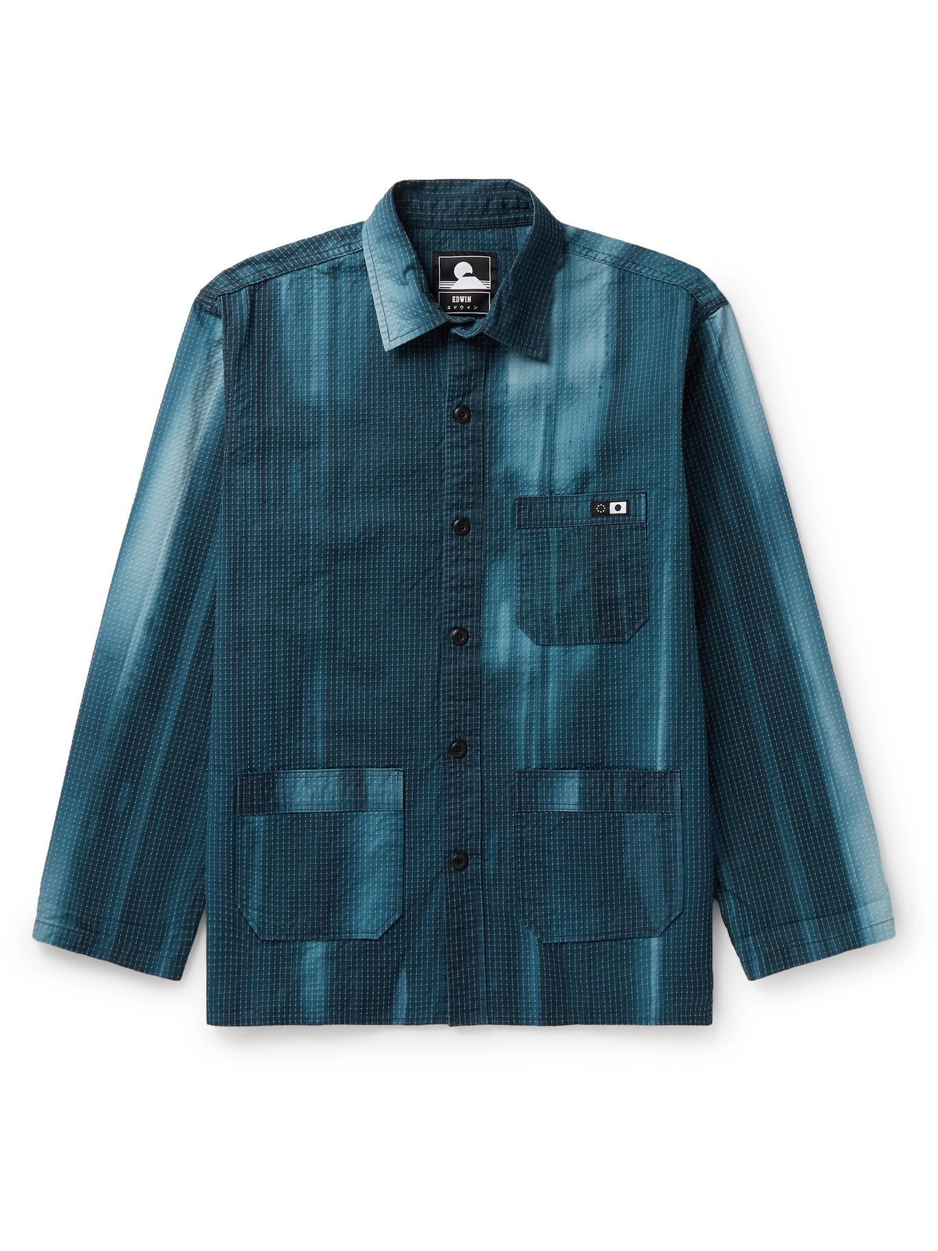 Photo: EDWIN - Major Tie-Dyed Enzyme-Washed Cotton-Blend Ripstop Shirt Jacket - Blue